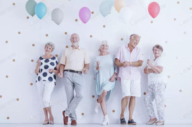 globos para jubilación